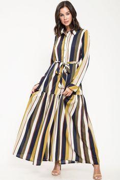 33ef3b3a Look Alive Stripe Maxi Dress Striped Maxi Dresses, Color Stripes, Fall  Fashion, Fashion