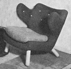 "Finn Juhl, easy chair for Niels Vodder, 1939. An ""early"" penguin."