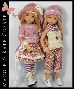 """Pink & Cream Outfit for Little Darlings Dianna Effner 13"""" Maggie & Kate  #DiannaEffner"""