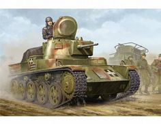 The Hobby Boss Hungarian 38M Toldi II B40 Light Tank Model Kit in 1/35 scale from the plastic tank model range accurately recreates the real life Hungarian light tank from World War II. This Hobby Boss tank model requires paint and glue to complete.