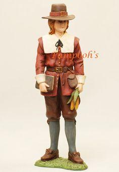Bethany Lowe Pilgrams | Bethany Lowe Pilgrim Man Thanksgiving Figurine | eBay
