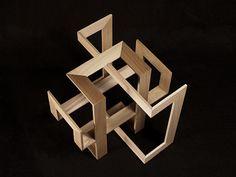 Verl Ancel Adams Conceptual Model Architecture, Folding Architecture, Architecture Tools, Pavilion Architecture, Conceptual Design, Interior Architecture, Cube Design, Grid Design, Modelos 3d