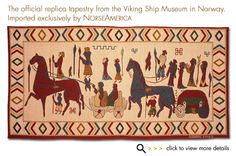 Oseberg Medieval Tapestry (replica tapestry from the Viking Ship Museum in Norway)