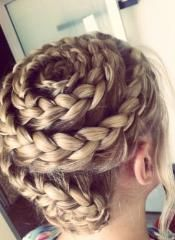 Wrap it up! Learn how to create the French Braid Swirl from Modern Salon.