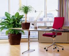 Best Stylish Office Desk With Contemporary Red Office Chair Decoration
