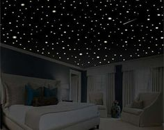 Bedroom Decor Star Wall Decal Glow In The Dark Stars Gifts Ceiling Removable