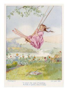 Girl on a Swing 1922