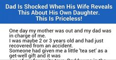 Dad Is Shocked After His Wife Reveals This Truth About His Daughter. Priceless! http://po.st/heh1yU  @ilykenet