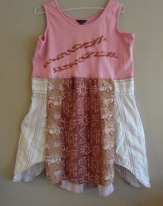Artsy / Romantic / Upcycled / Funky Tunic Dress/ OOAK / by upCdooZ, $47.00