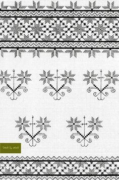 Basic Embroidery Stitches, Ribbon Embroidery, Cross Stitch Embroidery, Machine Embroidery Designs, Embroidery Patterns, Cross Stitch Borders, Cross Stitching, Bargello, Straight Stitch