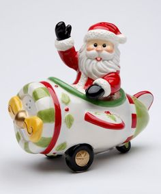 Love this Santa & Plane Salt & Pepper Shaker on #zulily! #zulilyfinds