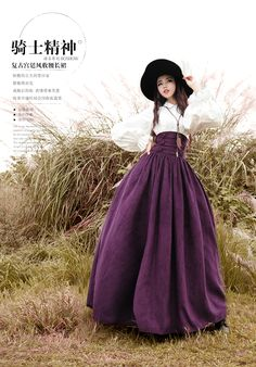 BOHOCHIC Women's Spring Autumn Vintage Palace Style Empire Waist Double Breasted Solid Long Swing Skirt BX0004C Boho Chic-inSkirts from Women's Clothing & Accessories on Aliexpress.com | Alibaba Group