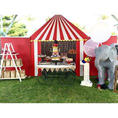 elegant_tea_time: The adorable circus 1st birthday party for baby Mikail set up by his mummy   Props by @elegant_tea_time  #firstbirthday #birthdayparty #circusparty #circus #carnival #elephant #circustent #circusprops #sydneyprophire #sydneyevents #prophire #prophiresydney #Elegantteatime #ettprops