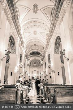As seen on Grace Ormonde Wedding Style at Hotel El Convento. www.alucinartefilms.com Photographer: @Claudette_montero , Bridal Dress: Oscar de la Renta.
