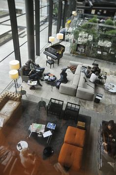 The Conservatorium Hotel (beautiful lounge, good restaurant) Lounge Design, Lounge Decor, Design Café, Hotel Lounge, Lobby Lounge, Lounge Seating, Design Ideas, Hotel Lobby Design, Modern Hotel Lobby