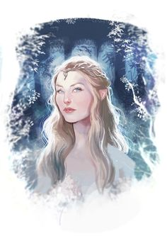 """lukaswerneck: """" Today I saw a piece of the film, where Galadriel character is displayed ….OMG she is soooo beautiful * ____ * ….I was delighted…I had to draw … Galadriel Lucas Werneck """""""