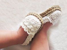 Buy Crochet Baby Sandals First Walker Shoes Infant Slippers Delicate Crocheting.   I Love Love Love these!!