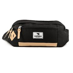 f8a76937fa0 Outdoor fanny pack by Nomalite | Black waterproof XL waist pouch for men &  women with leather frame and anti-shock XXL pocket for smartphone/iphone.