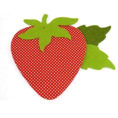 Υφασμάτινη φράουλα τσόχα για χειροτεχνία.Διάσταση:10x8cm