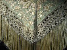 Flecos Silk Shawl, Macrame, Embroidery, Crochet, Accessories, Regional, Costumes, Dresses, Fashion