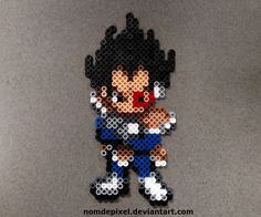 DBZ Vegeta perler beads by NomDePixel