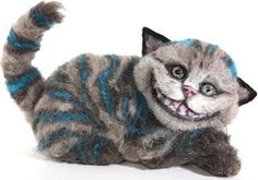 Cheshire Cat by Stevi T.  Needle felted alpaca