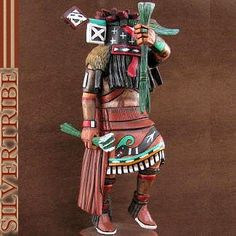 Hopi Ewiro or Warrior Kachina Doll Carving by Artist Clyde Harris