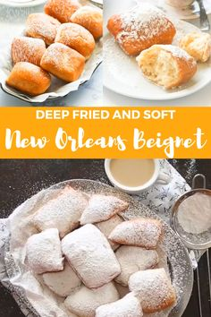 Beignets – These New Orleans doughnuts are the best! Fun Baking Recipes, Cooking Recipes, Keto Recipes, Mexican Food Recipes, Sweet Recipes, French Dessert Recipes, Beignet Recipe, Beignets Recipe Easy, Homemade Donuts