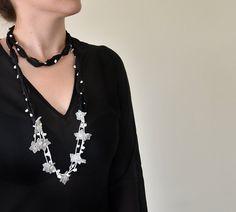 Hey, I found this really awesome Etsy listing at https://www.etsy.com/ru/listing/160026421/black-silk-scarf-oya-crochet-flowers