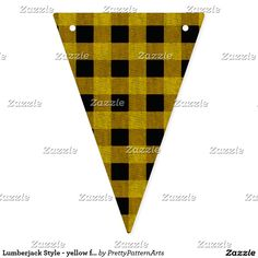 Lumberjack Style - yellow fabric + your ideas Bunting Flags