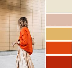 7 spectacular combinations with orange color - BurdaStyle. Colour Combinations Fashion, Color Combinations For Clothes, Color Blocking Outfits, Fashion Colours, Colorful Fashion, Colour Pallete, Colour Schemes, Color Trends, Color Combos