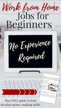 Don't let lack of experience keep you from working from home. These work from home jobs are perfect beginners -- no experience required. Plus, free guide to help you develop money-making skills and increase your work from home job prospects. by maureen Earn Money From Home, Earn Money Online, Online Jobs, Way To Make Money, How To Make, Money Fast, Online Careers, Online Budget, Earning Money
