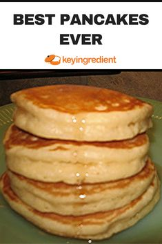 Waking up to a big stack of fluffy pancakes it THE BEST! This recipe is foolproof for the best pancakes in the world! Breakfast Pancakes, Pancakes And Waffles, Breakfast Dishes, Breakfast Recipes, Buttermilk Pancakes, Pancakes From Scatch, How To Make Pancakes, Pancake Recipes, Pancakes Easy