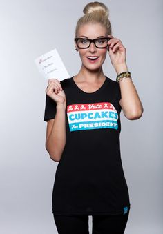 Vote Cupcakes for President.. Johnny Cupcakes.