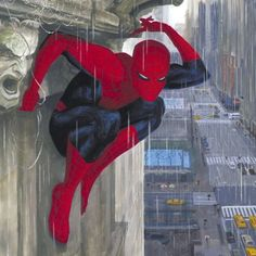 Spider-man in the rain