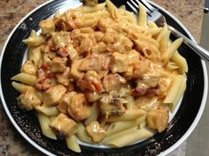 Spicy Shrimp and Chicken Pasta (Like Carino's)
