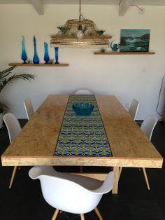 DIY OSB table top & light fixture