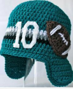 Crochet Football helmet