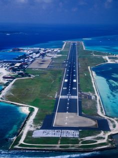Airport in the Maldives is located on an artificial island in the middle of the Indian Ocean.