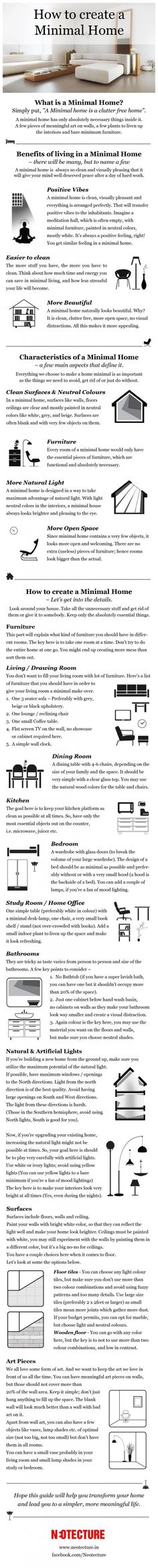 Minimalist Living. Love this!