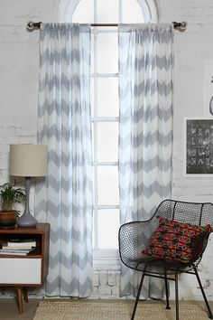 Love these curtains for your living room. :) Either in grey or turquoise. Zigzag Curtain
