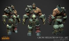 ArtStation - Grom Hellscream Fan Art, Miles Wadsworth