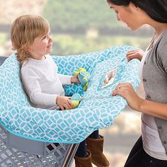 With the Cushy Cart Cover by Summer Infant, protecting your little one from dirt and germs, dining out or shopping is easy. A positioning bolster adds extra support and comfort and is removable as your child grows. Folds up into a compact pouch.