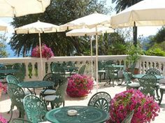 terrace at Excelsior Palace Hotel in Rapallo, Italy