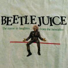 Vintage 1980s Beetlejuice horror comedy movie t-shirt