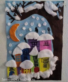 Boom in de sneeuw - diy and crafts Winter Art Projects, Winter Kids, Christmas Crafts For Kids, Xmas Crafts, Christmas Art, Projects For Kids, Diy And Crafts, Arts And Crafts, Paper Crafts