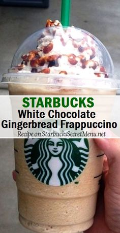 Starbucks White Chocolate Gingerbread Frappuccino A simple but delightful mix of sweet and spice. Starbucks White Chocolate Gingerbread Frappuccino A simple but delightful mix of sweet and spice. Starbucks Hacks, Starbucks Secret Menu Drinks, Starbucks Frappuccino, Starbucks Recipes, Starbucks Coffee, Coffee Recipes, Starbucks Holiday Menu, Low Fat Starbucks Drinks, Starbucks Order