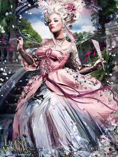 Artist: Bruno Wagner aka yayashin - Title: Reviving Antoinette adv - Card: Queen Marie Antoinette (Effete)