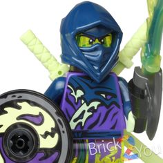 Lego Ninjago Ghost Ninja Hackler w/ Shield & Weapon - 70734 Master Wu Dragon #LEGO