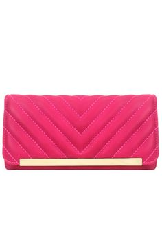 Gold Bar Checkbook Wallet Fuchsia